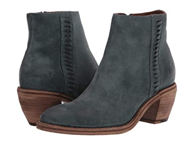 Frye Rosalia Feather Bootie (Sea Pine Hairy Suede) Women