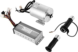 BestEquip 1800W 48V High Speed Electric Brushless DC Motor with 32A Brushless Speed Controller and Throttle Grip Kit for Go Kart Moped Mini Bikes (with 32A Speed Controller and Throttle Grip Kit)
