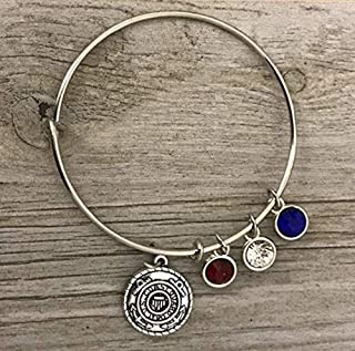 Infinity Collection US Coast Guard Academy Gifts, Coast Guard Charm Bangle Bracelet, for Women