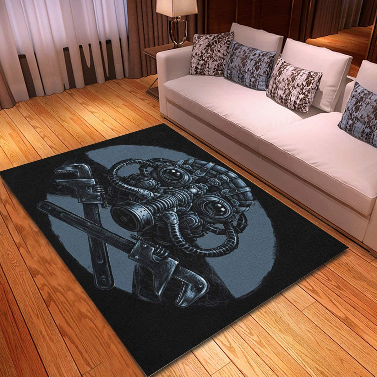 rouihot Non-Slip Area Special price for a Our shop most popular limited time Rug 4'x 6' Steampunk To Biohazard Mask Gas
