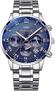 ساعات معصم رياضية للرجال من OLMECA مضادة للماء ساعات رسمية عصرية للرجال انالوج كوارتز كرونوغراف تاريخ 834