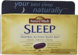 Nature Made Natural Sleep Aid Liquid Softgels 30 ea (Pack of 4)
