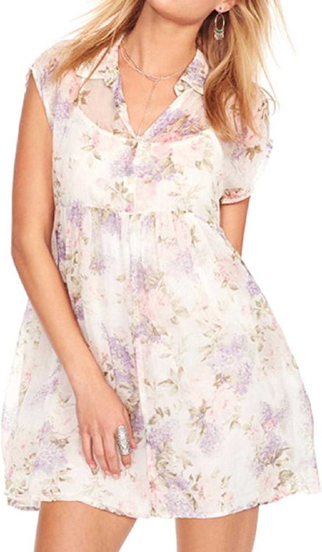 Denim & Supply Ralph Lauren FloralPrint Empire Shirtdress,