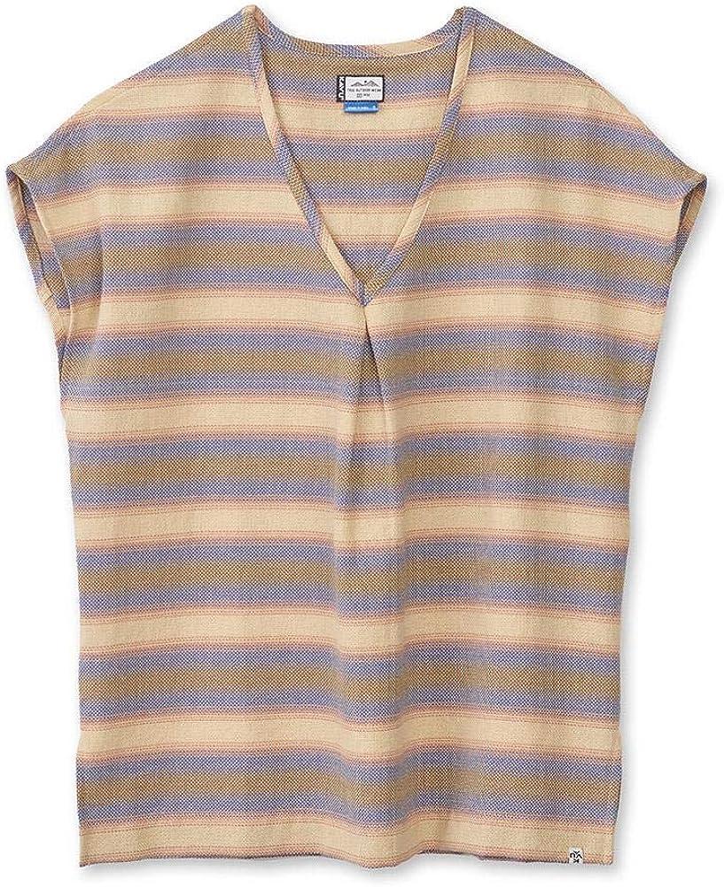 KAVU Sundale Sleeveless 市場 Striped Pullover Neck Shi V - 返品不可