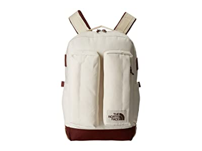 The North Face Crevasse (Vintage White/Sequoia Red) Backpack Bags