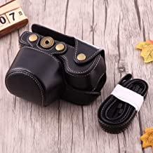 BAOBAO Full Body Camera Leather Case Bag with Strap for Sony A6000 A6300 Nex 6 Black   Color Black