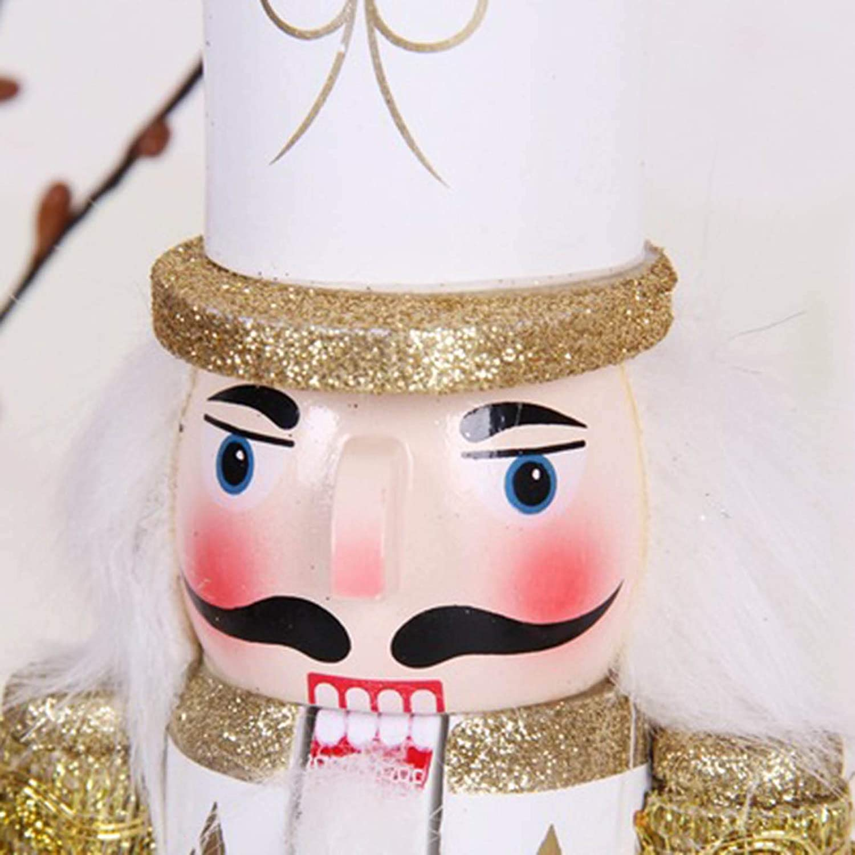 Keppels Scottish Nutcracker Soldiers,30cm Soldier Nutcracker Painted Christmas Decoration with Base Gold