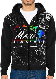 Maui - Hawaiian Islands Men's Custom Full-Zip Hoodie Hooded Jacket Coats Pocket