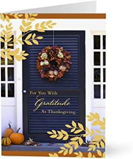 Hallmark Business Thanksgiving Cards for Employees (Welcoming Front Door) (Pack of 25 Greeting Cards)