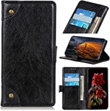 Mobile phone case Copper Buckle Nappa Texture Horizontal Flip Leather Case with Holder & Card Slots & Wallet for LG W30(Black) (Color : Black)