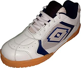 wrooker White Non Marking Badminton Shoes for Men