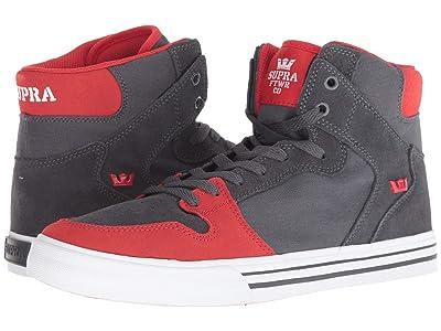 Supra Vaider (Dark Grey/Risk Red/White) Skate Shoes