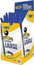 BIC Cristal Large bolígrafos Punta Ancha (1,6 mm) - Azul, Caja de 50 unidades
