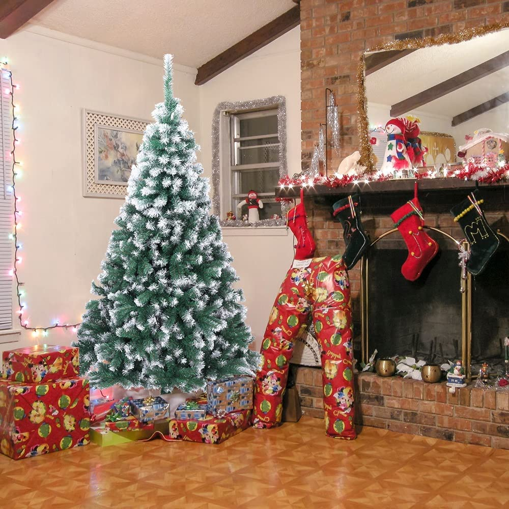 One Max 75% OFF Hundred Pro 7FT Spray White PVC Branches 870 Christmas Tree Rapid rise