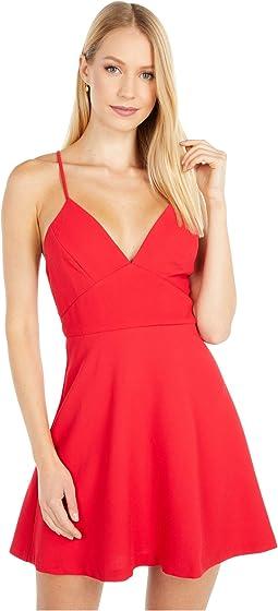 V-Neck Fit and Flare Dress - GEF6221667