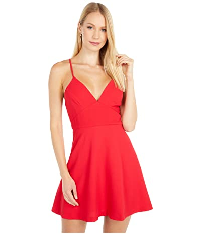 BCBGeneration V-Neck Fit and Flare Dress GEF6221667 (Ribbon Red) Women