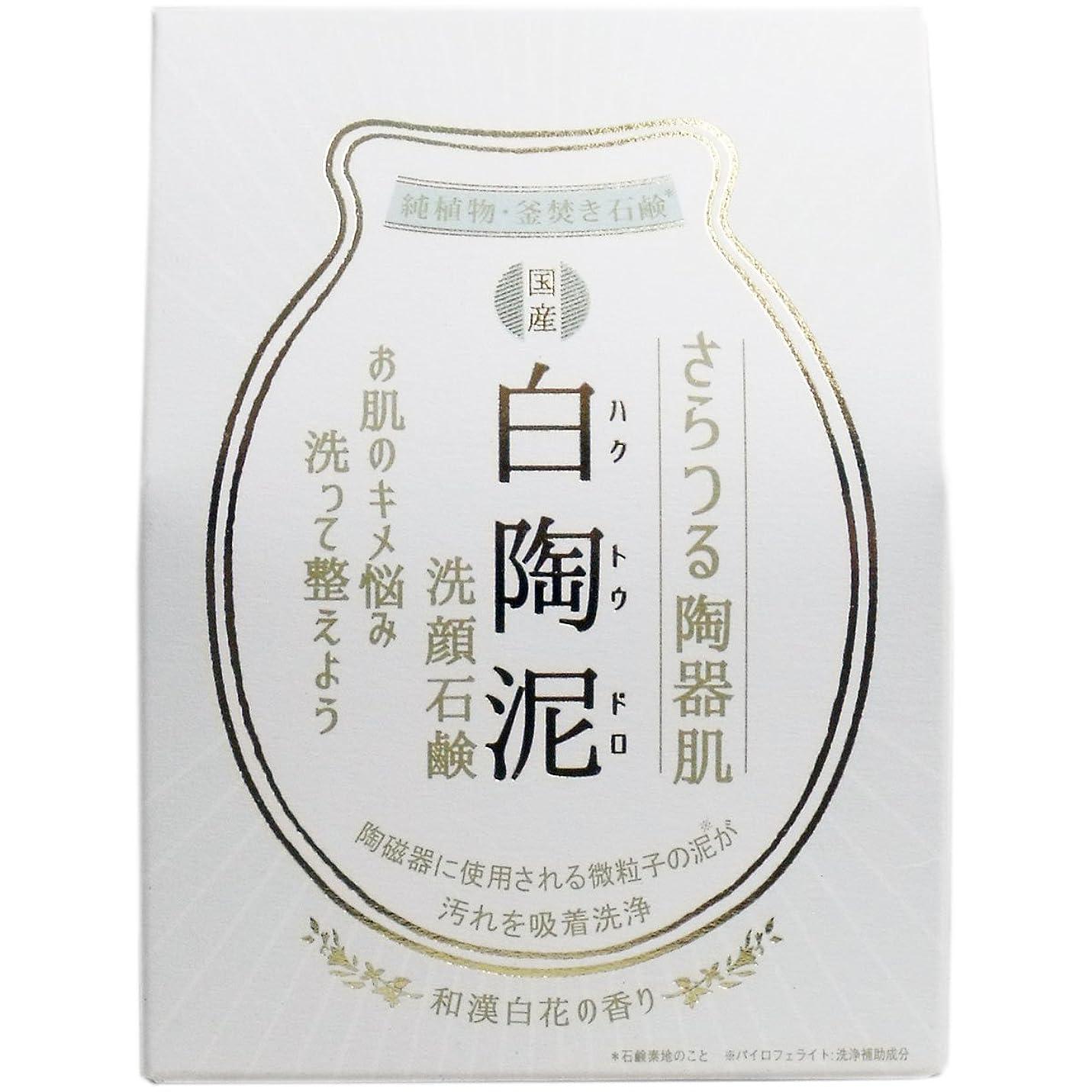 音声流産実証する白陶泥洗顔石鹸 100g×5個セット