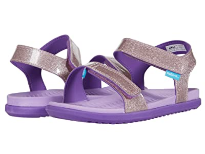 Native Kids Shoes Charley Glitter (Little Kid) (Lavender Purple Glitter/Starfish Purple) Girl