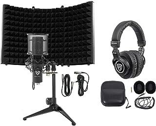 Rockville RCM PRO Studio/Recording Condenser Microphone+Headphones+Foam Shield