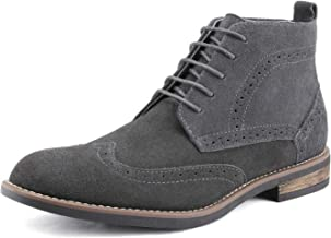 Gray Leather Lace-up Boots CORTEFIEL Gray Suede Boots Chukka Boots Light gray Ankle Boots Desert Trail Combat Size US 10 Eu 43