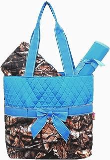 camo and blue diaper bag