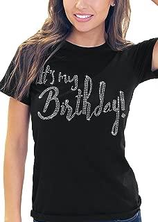 Womens It's My Birthday T-Shirt - Birthday Squad & Party Crew Birthday Queen Shirts