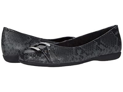 Trotters Sizzle Signature (Dark Grey Snake) Women