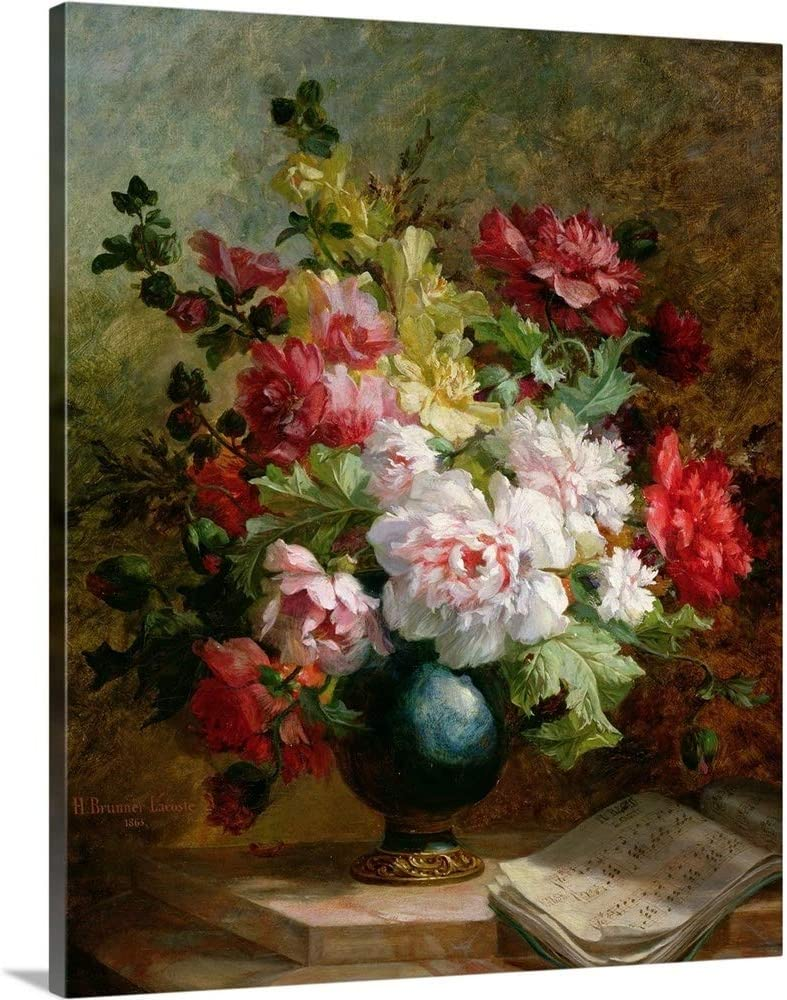 Still Life with Flowers and Sheet Art A Print Music Wall Limited price sale Canvas Superlatite