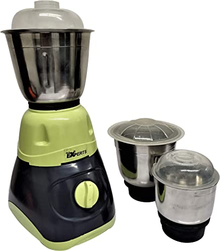 Mayumi GLS EXPERTS Mixer Grinder 550 Watts with 3 SS Jar for Home Kitchen GREEN GREY