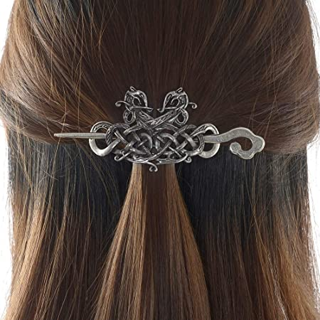 Celtic Hair Clip Graduation Gift Celtic Jewelry Viking Jewelry Celtic Knot Ponytail Holder Mom Gift Norse Jewelry Retirement Gift