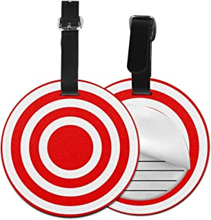 Luggage Tags Red Bullseye, Suitcase Luggage Tags Travel Accessories Baggage Name Tag