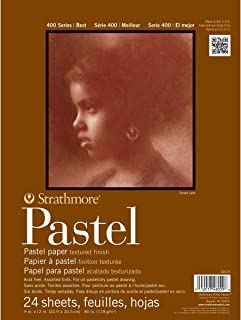 "Strathmore 400 Series Pastel Pad, Assorted Colors, 9""x12"" Glue Bound, 24 Sheets"