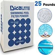 Dicalite Minerals DicaLite-25C DE Diatomaceous Earth Pool Filter Powder Media Aid, 25 lbs