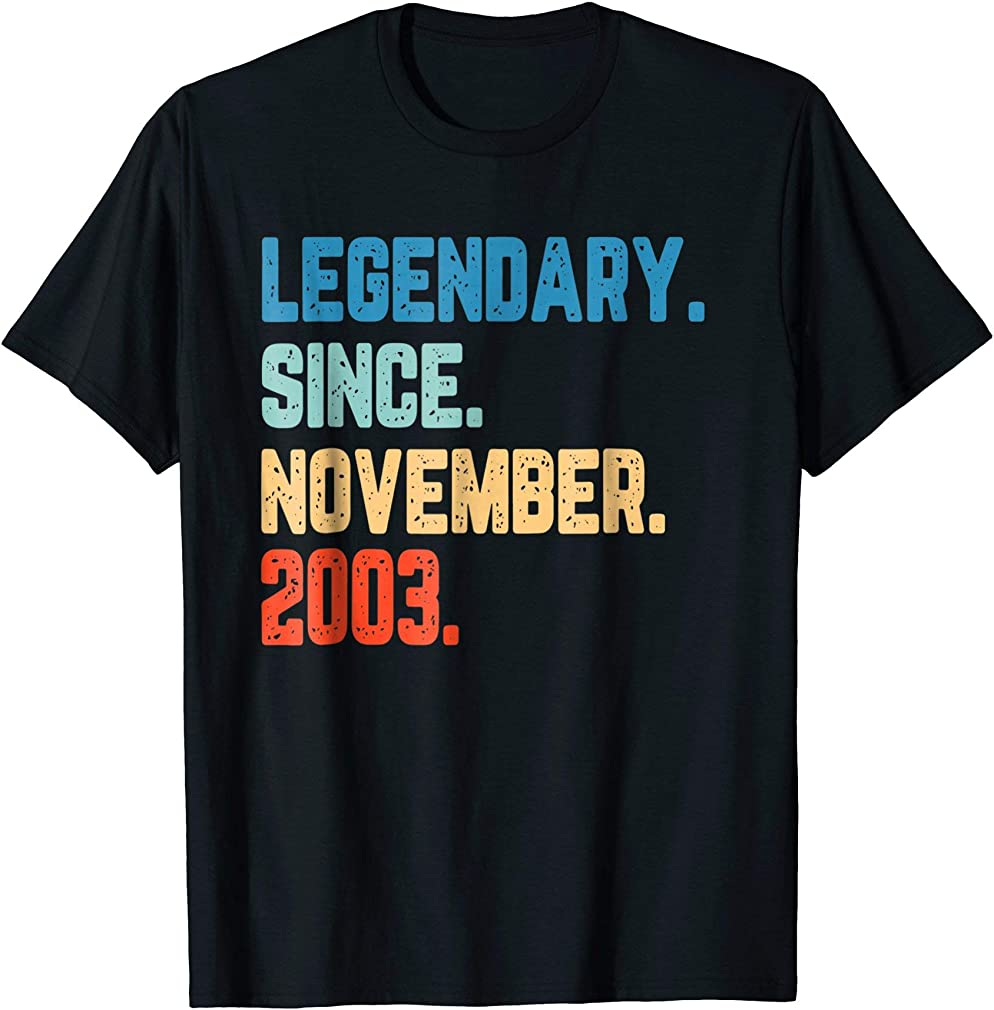 Born In November 2003 Shirt Retro Vintage 15th Birthday Gift