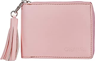 Creature Pink Zipper Wallet for Girls(Color-Pink||ZWL-02)