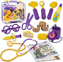 Li'l-Gen Doctor Kit for Kids - Pretend Play Dr Kit with Real Stethoscope Plus Children's Book