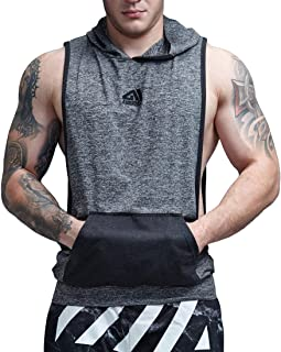 Muscle Tank Tops Camo Athletic Workout Shirt Weightlifting Bodybuilding Stringer Gym Sleeveless Hoodie Tank Top Men