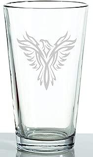 glass etching phoenix