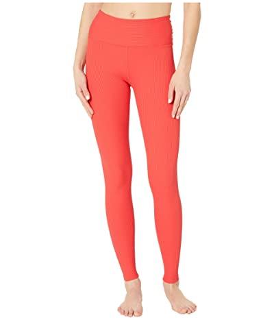 YEAR OF OURS Ribbed High High Leggings (Red) Women