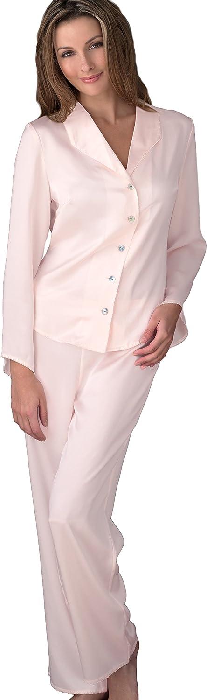 Julianna Rae Women's 100% Silk Pajama, Petite, Elastic, Flat Front Pant