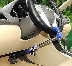5-digit combination car lock, car steering wheel lock, universal hook lock, handlebar clutch, throttle brake lock, telescopic multi-purpose compartment SUV adjustable anti-theft heavy duty safety lock