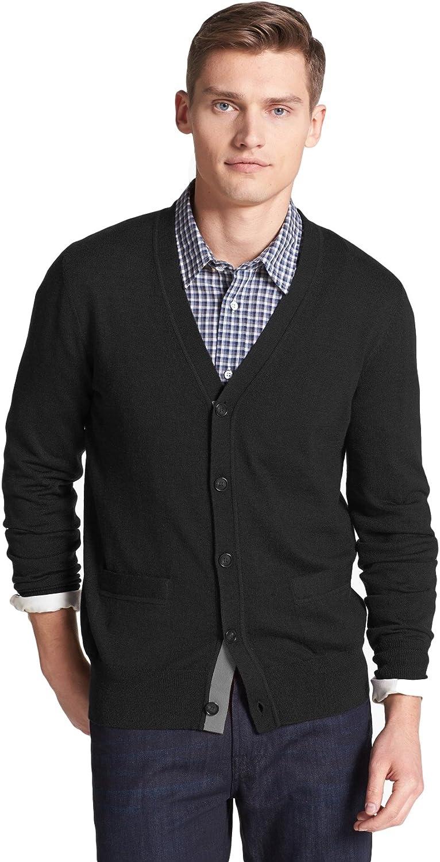 Jack Spade $245 Brockman Merino Wool Cardigan Sweater Black Extra Large