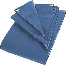 KRT660109 dekzeil dekzeil dekzeil onderzeil 10 x 15 meter aluminium ogen 70g / m2 kleur blauw