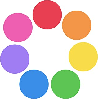 Teacher Buddy 7 Pack Dry Erase White Board Marker Removable Vinyl Dot Circle Set - Perfect with Markers on Students' Desks