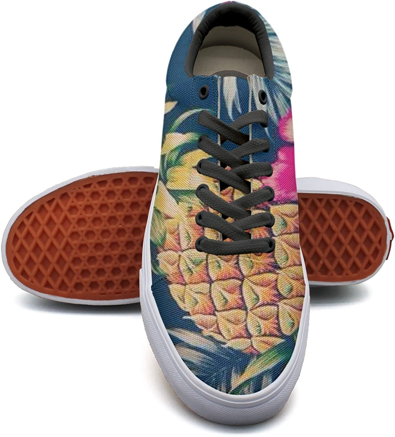 Pineapple And Floral Women's Casual Sneakers Footwear Lo-Top News Trainers