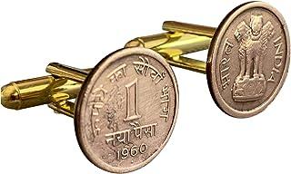 علبة هدايا Ammo Vintage India 1 أزرار أكمام عملات نقدية مايا بايزا