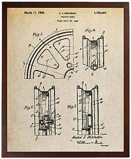 Turnip Designs Automobile Wheel Patent Print Michelin Tires Poster Auto Wheel Art TDP1115