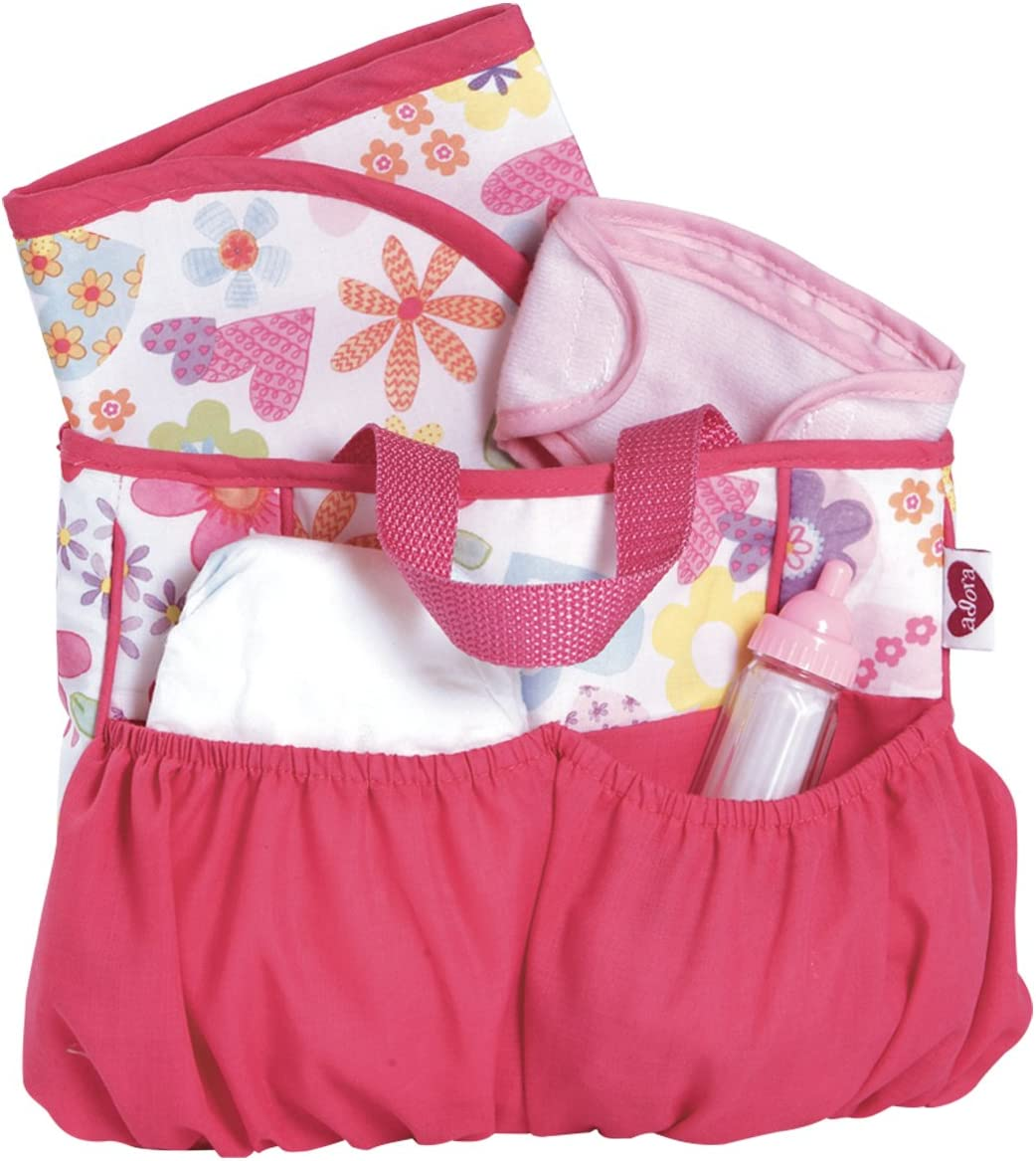 Adora 20603021 Baby Doll Diaper Bag Accessories with 5Piece Changing Set