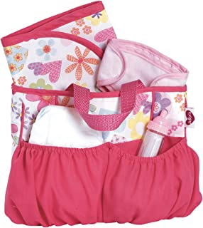 Adora Baby Doll Diaper Bag Accessories with 5-Piece Changing Set