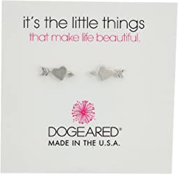 Dogeared - It's The Little Thing: Heart with Arrow Earrings